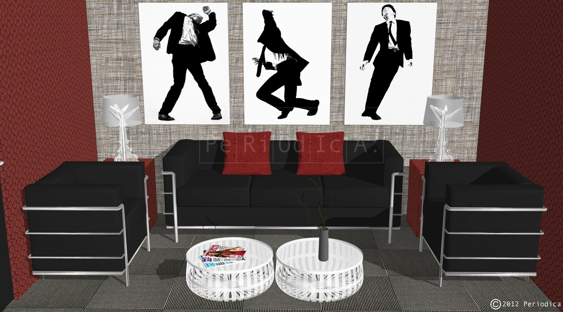004/ dressing room lounge. art by robert longo