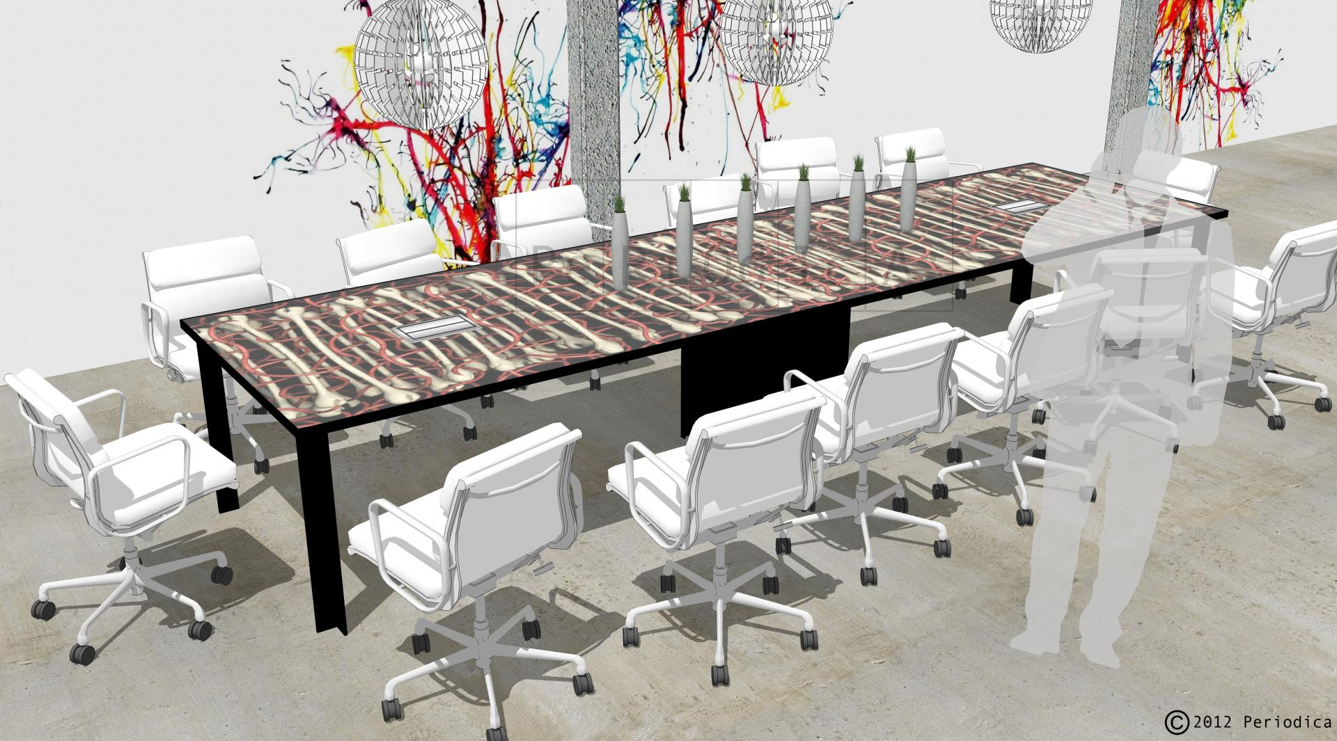 014/ conference table. art by kenneth a. huff